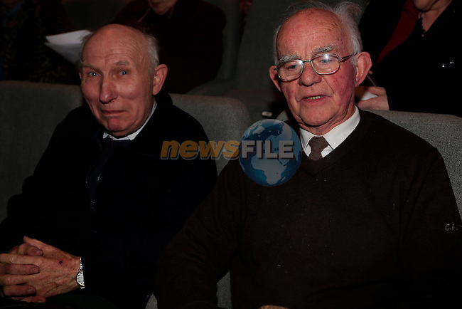 Jim Brannigan and Eoin Rafferty at the Arts Centre Christmas Show<br /> Picture: Fran Caffrey www.newsfile.ie