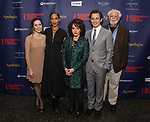 """Talene Monahon, Megalyn Echikunwoke, Stockard Channing, Hugh Dancy and John Tillinger attend the Broadway Opening Night Celebration for the Roundabout Theatre Company production of """"Apologia"""" on October 16, 2018 at the Laura Pels Theatre in New York City."""