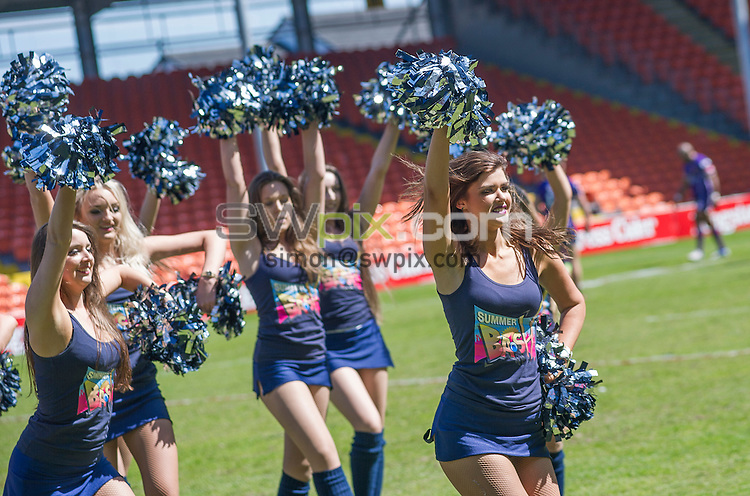Picture by Allan McKenzie/SWpix.com - 23/05/2015 - Rugby League - Kingstone Press Championship Summer Bash - The Brief - Bloomfield Road, Blackpool, England - The Rugby League Rockettes.
