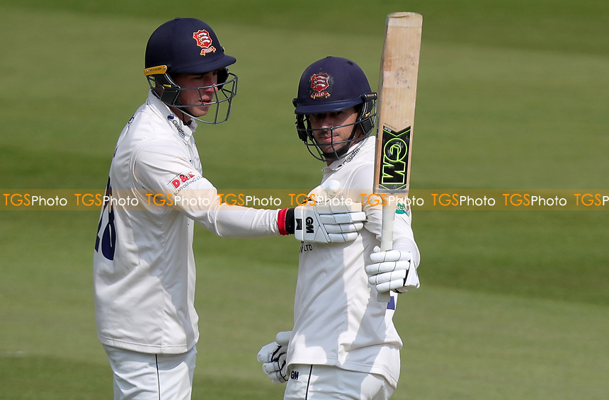 Ryan ten Doeschate of Essex celebrates scoring fifty runsduring Surrey CCC vs Essex CCC, Specsavers County Championship Division 1 Cricket at the Kia Oval on 13th April 2019