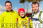 Padraig Leane, Siobhan Joy and Diarmuid Galvin (all from Killarney) at the Dingle Adventure Race on Saturday morning.