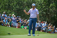 Jon Rahm (ESP) after sinking his putt on 2 during round 1 of The Players Championship, TPC Sawgrass, at Ponte Vedra, Florida, USA. 5/10/2018.<br /> Picture: Golffile | Ken Murray<br /> <br /> <br /> All photo usage must carry mandatory copyright credit (&copy; Golffile | Ken Murray)