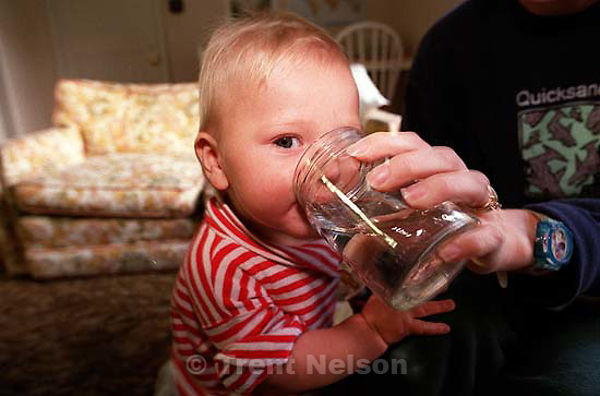 Noah Nelson drinking<br />