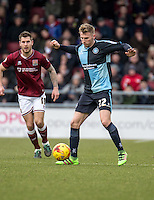 Jason McCarthy of Wycombe Wanderers during the Sky Bet League 2 match between Northampton Town and Wycombe Wanderers at Sixfields Stadium, Northampton, England on the 20th February 2016. Photo by Liam McAvoy.