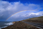 rainbow over highway One