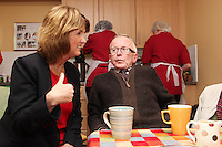 "NO REPRO FEE. 21/11/2011. New Alzheimer Day Centre at full capacity as demand for Alzheimer services grow. Minister for Social Protection Joan Burton T.D. officially opened ""Failte Day Centre"", which will provide dementia-specific, person-centred care to people with dementia and their carers in Hartstown, Clonsilla. The Minister is pictured with cient Eddie O Hahony from the Navan Rd. The Alzheimer Society of Ireland, in partnership with the HSE, is currently operating 3 days a week caring for clients living with dementia who live in Castleknock. Picture James Horan/Collins Photos"