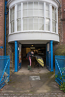 Hammersmith. London. United Kingdom,  Final adjustment to the Leander Club Eight before the 2018 Men's Head of the River Race.  location Barnes Bridge, Championship Course, Putney to Mortlake. River Thames, <br /> <br /> Sunday  11/03/2018<br /> <br /> [Mandatory Credit:Peter SPURRIER Intersport Images]<br /> <br /> LEICA CAMERA AG  LEICA Q (Typ 116)  1/250 sec. 28 mm f.4.5 200 ISO.  42.5MB