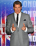 the launch of the new series of Britain's Got Talent at the mayfair hotel london 13/04/2011  Amanda Holden, David..Hasselhoff and Michael McIntyre
