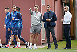 26.09.2018 Rangers training: Borna Barisic and Steven Gerrard