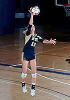 Florida International University women's volleyball player Marija Prsa (10) plays against Tulane University.  FIU won the match 3-2 on September 9, 2011 at Miami, Florida. .