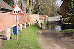 Road passing through ford on River Lark, Grundisburgh, Suffolk