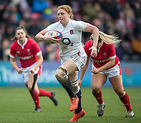 England Women's Harriet Millar-Mills in action during todays match<br /> <br /> Photographer Bob Bradford/CameraSport<br /> <br /> 2020 Women's Six Nations Championship - England v Wales - Saturday 7th March 2020 - The Stoop - London<br /> <br /> World Copyright © 2020 CameraSport. All rights reserved. 43 Linden Ave. Countesthorpe. Leicester. England. LE8 5PG - Tel: +44 (0) 116 277 4147 - admin@camerasport.com - www.camerasport.com