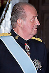 09.10.2012. King Juan Carlos I of Spain attend the reception of credentials of the new Ambassador of Georgia, Zurab Pololikashvili, in the Royal Palace in Madrid, Spain. In the image King Juan Carlos (Alterphotos/Marta Gonzalez)