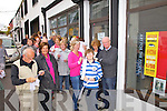 South Kerry art buffs queue for the opening of ART250 in Waterville on Friday night.