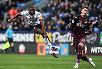 Bolton Wanderers' Clayton Donaldson follows his shot at goal as Swansea City's Joe Rodon looks on<br /> <br /> Photographer Andrew Kearns/CameraSport<br /> <br /> The EFL Sky Bet Championship - Bolton Wanderers v Swansea City - Saturday 10th November 2018 - University of Bolton Stadium - Bolton<br /> <br /> World Copyright © 2018 CameraSport. All rights reserved. 43 Linden Ave. Countesthorpe. Leicester. England. LE8 5PG - Tel: +44 (0) 116 277 4147 - admin@camerasport.com - www.camerasport.com
