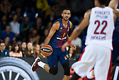 3rd November 2017, Palau Blaugrana, Barcelona, Spain; Turkish Airlines Euroleague Basketball, FC Barcelona Lassa versus Olympiacos Piraeus; 9 HANGA, ADAM of FC Barcelona Lassa in action during the match of round 5 of regular season in the 2017/2018 Turkish Airlines EuroLeague