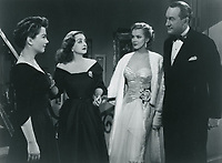 All About Eve (1950)<br /> Anne Baxter, Bette Davis, Marilyn Monroe &amp; George Sanders<br /> *Filmstill - Editorial Use Only*<br /> CAP/KFS<br /> Image supplied by Capital Pictures
