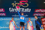 Jan Polanc (SLO) UAE Team Emirates retains the mountains Maglia Azzura at the end of Stage 6 of the 100th edition of the Giro d'Italia 2017, running 217km from Reggio Calabria to Terme Luigiane, Italy. 11th May 2017.<br /> Picture: LaPresse/Simone Spada | Cyclefile<br /> <br /> <br /> All photos usage must carry mandatory copyright credit (&copy; Cyclefile | LaPresse/Simone Spada)