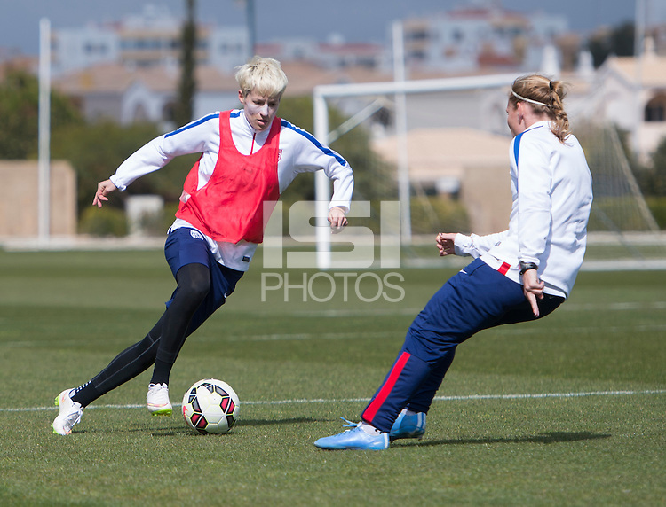 Lagos, Portugal - Februrary 28, 2015:  The USWNT trains in preparation for the Algarve Cup in Lagos, Portugal.