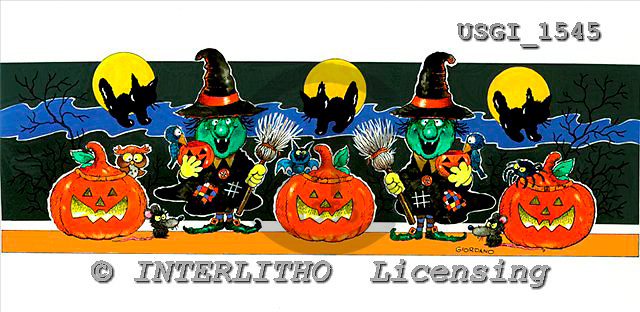 GIORDANO, CUTE ANIMALS, LUSTIGE TIERE, ANIMALITOS DIVERTIDOS, Halloween, paintings+++++,USGI1545,#AC#