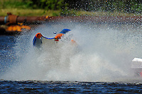 Frame 4: #42 rides up and over the roostertail of leader R.J. West, (#93) during the final heat.   (SST-45 class)