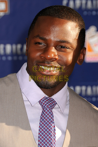 "Derek Luke.""Captain America: The First Avenger"" Los Angeles Premiere held at the El Capitan Theatre, Hollywood, California, USA..July 19th, 2011.headshot portrait grey gray  purple tie  .CAP/ADM/BP.©Byron Purvis/AdMedia/Capital Pictures."