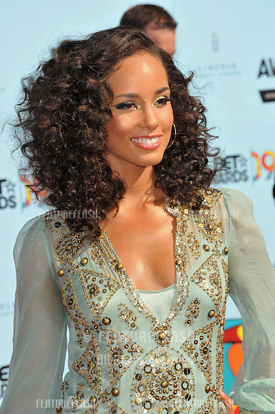 Alicia Keys at the 2009 BET Awards (Black Entertainment Television) at the Shrine Auditorium..June 28, 2009  Los Angeles, CA.Picture: Paul Smith / Featureflash