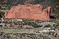Aerial of Garden of the Gods, Colorado Springs.  July 16, 2012