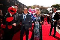 PASADENA - May 5: Sesame Street, Elmo, Ryan Dillon, Alan Muraoka, Abby Cadabby, Leslie Carrara-Rudolph at the 46th Daytime Emmy Awards Gala at the Pasadena Civic Center on May 5, 2019 in Pasadena, California