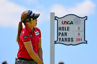 Jeongeun6 Lee (KOR) watches her tee shot on 2 during Sunday's final round of the 72nd U.S. Women's Open Championship, at Trump National Golf Club, Bedminster, New Jersey. 7/16/2017.<br /> Picture: Golffile | Ken Murray<br /> <br /> <br /> All photo usage must carry mandatory copyright credit (&copy; Golffile | Ken Murray)