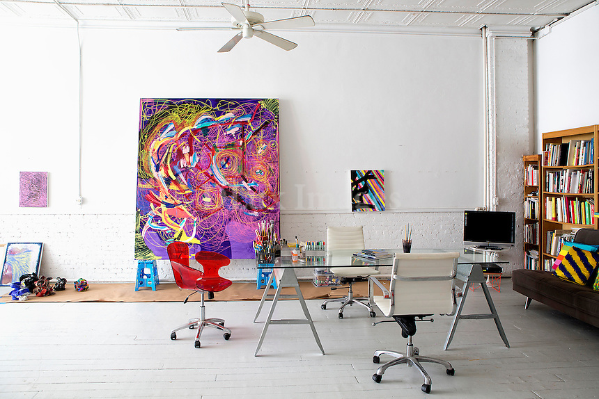 colored abstract painting