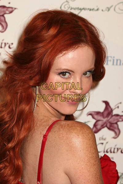PHOEBE PRICE.9th Annual Benefit for Lili Claire Foundation at the Beverly Hilton Hotel, Beverly Hills, California, USA..October 14th, 2006.Ref: ADM/BP.headshot portrait looking over shoulder .www.capitalpictures.com.sales@capitalpictures.com.©Byron Purvis/AdMedia/Capital Pictures.