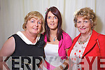 Agnes McCarthy, Pauline Lynch and Jean Lynch, Listowel at the Rose of Tralee Fashion Show at the Dome on Sunday Night.