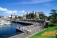 Victoria City Center in British Columbia at the harbour, Canada
