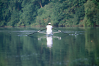 Sculling on Thames River London Ontario Canada