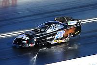 Apr. 1, 2011; Las Vegas, NV, USA: NHRA funny car driver Terry Haddock during qualifying for the Summitracing.com Nationals at The Strip in Las Vegas. Mandatory Credit: Mark J. Rebilas-