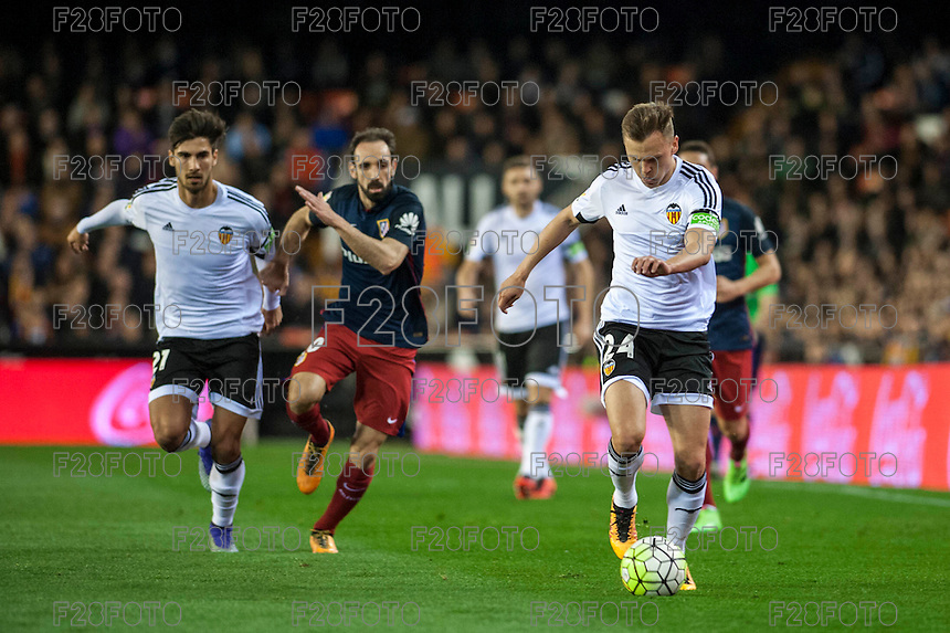 VALENCIA, SPAIN - MARCH 6: Cheryshev during BBVA League match between Valencia C.F. and Athletico de Madrid at Mestalla Stadium on March 6, 2015 in Valencia, Spain
