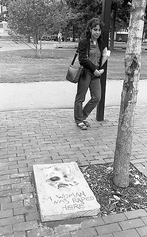 Sculpture installations where women were raped