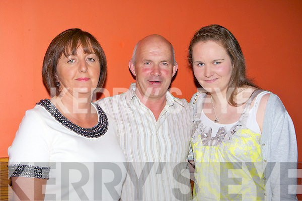 Joan, Dan and Rachel O'Shea Currow at the Rose of Cons in the River Island Hotel on Friday night.