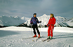 Alaska: Winter in Alaska. Skiing at Alyeska, model released.  Photo akwint101  .Photo copyright Lee Foster, 510/549-2202,  lee@fostertravel.com, www.fostertravel.com