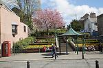 Town centre gardens, Hawick, Roxburghshire, Scotland, UK