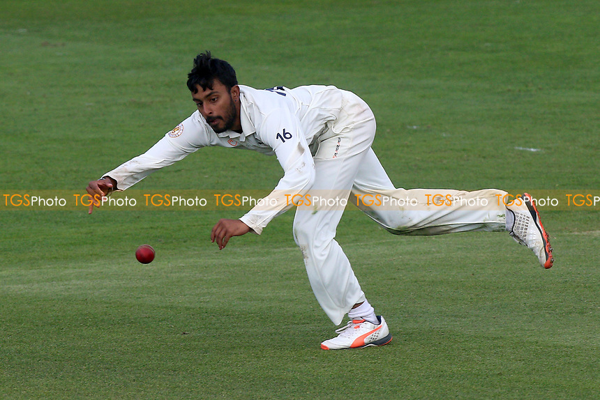 Abhiraj Singh of Durham dives to field the ball during Essex CCC vs Durham MCCU, English MCC University Match Cricket at The Cloudfm County Ground on 2nd April 2017