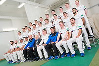 Picture by Allan McKenzie/SWpix.com - 02/04/2018 - Cricket - Yorkshire County Cricket Club Media Day 2018 - Headingley Cricket Ground, Leeds, England - The Yorkshire Cricket CLub Team Photo 2018 with Keith Howard of the Emerald Foundation.