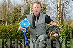 Tim Galvin of Gally's restaurant,  Rottweiler Rocky came in second at Crufts last week