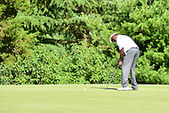 Bethesda, MD - June 26, 2016: Vijay Singh (FIJ) lines up a putt on hole two during Final Round of play at the Quicken Loans National Tournament at the Congressional Country Club in Bethesda, MD, June 26, 2016.  (Photo by Philip Peters/Media Images International)