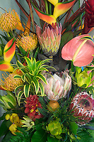 Display of tropical flowers. bouquet of tropical flowers Maui, Hawaii