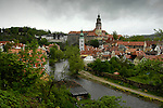 View of the town of Czesky Krumlov, Czech Republic. © Michael Brands. 970-379-1885.