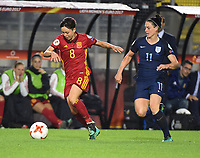 20170723 - BREDA , NETHERLANDS : English Jade Moore (R) and Spanish Amanda Sampedro (L) pictured during the female soccer game between England and Spain  , the second game in group D at the Women's Euro 2017 , European Championship in The Netherlands 2017 , Sunday 23 th June 2017 at Stadion Rat Verlegh in Breda , The Netherlands PHOTO SPORTPIX.BE | DIRK VUYLSTEKE