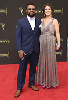LOS ANGELES - SEPTEMBER 15: Naaman Haynes, Mo Piquette Haynes attends the 2019 Creative Arts Emmy Awards at the Microsoft Theatre LA Live on September 15, 2019 in Los Angeles, California. (Photo by Scott Kirkland/PictureGroup)