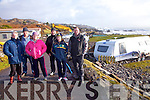 Massive damage at Wavecrest Caravan site in Caherdaniel pictured here on Monday alongside a caravan which was totally gutted were l-r; Brigid Murphy, John O'Shea, Bríd Moran, Michael O'Shea, Síofra O'Shea & Desmond O'Shea.